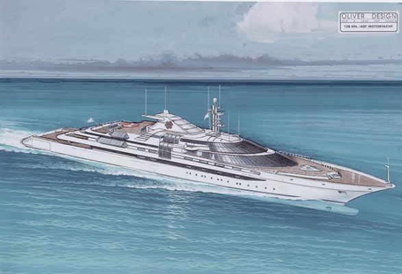 The yacht designed for Donald Trump