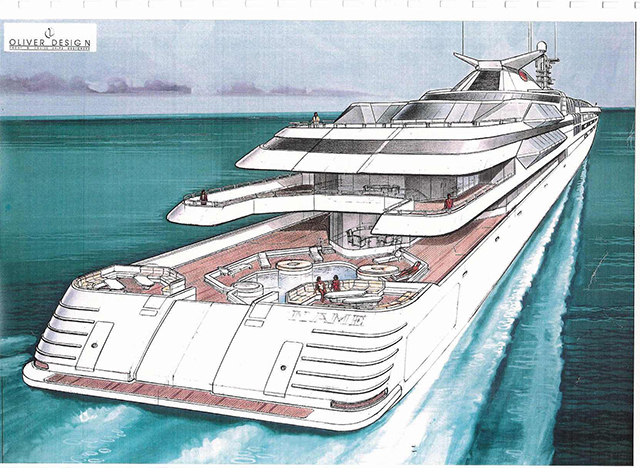 Render Of The Yacht Created For Donald Trump
