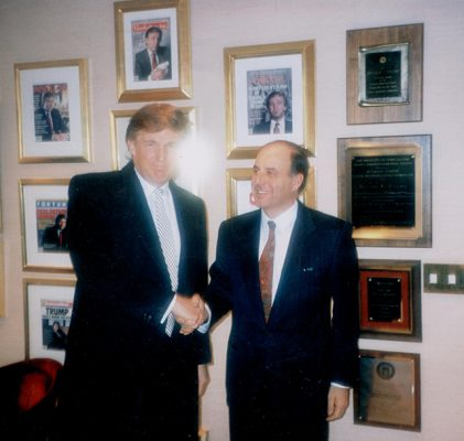 Donald Trump and Jaime Oliver who designed his yacht