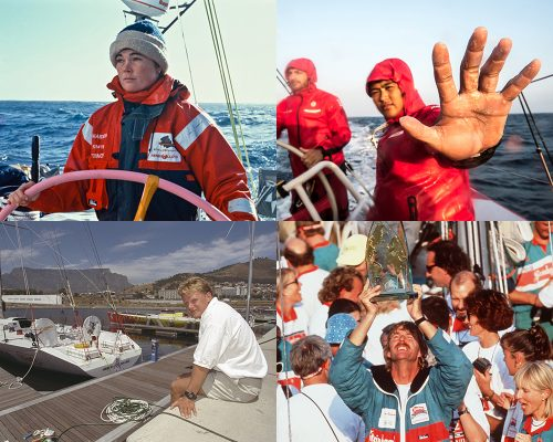Some of the young skippers and crew who have taken part in the Volvo Ocean Race/Whitbread Round the World