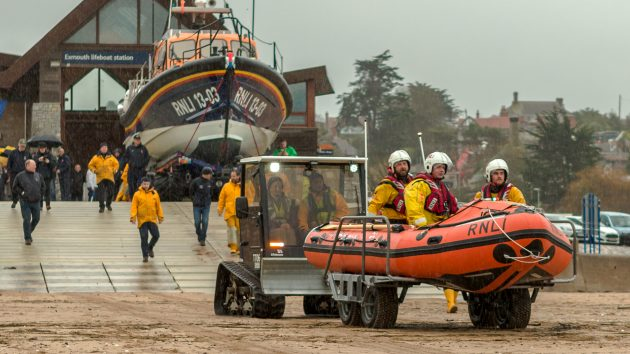 The inshore lifeboat George Bearman II located at Exmouth RNLI