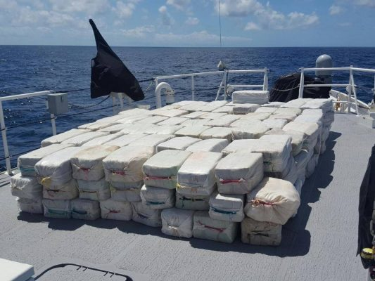 4.2 tonnes of cocaine found on the Lady Michelle, in what is the biggest cocaine bust in the Atlantic since 1999