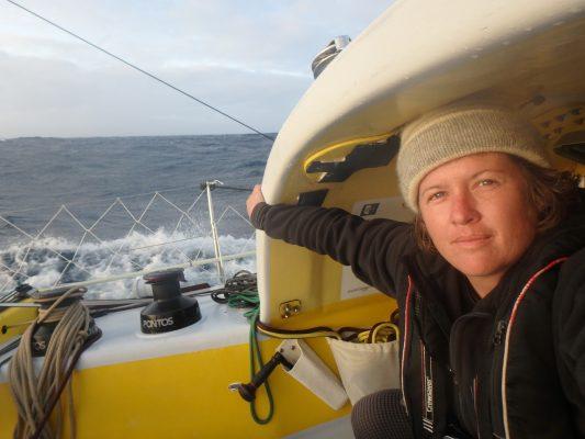 Lisa Blair while sailing Antarctica