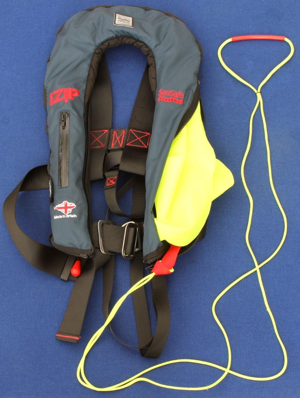 life jacket on dry land