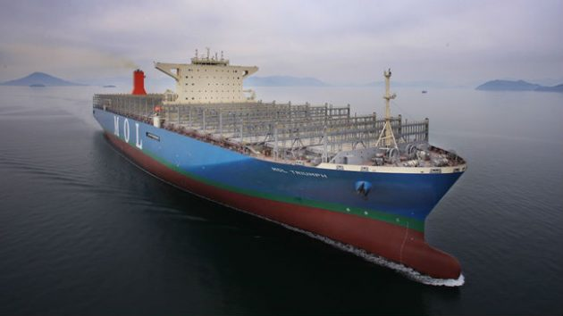 the largest container ship in the world - MOL Triumph