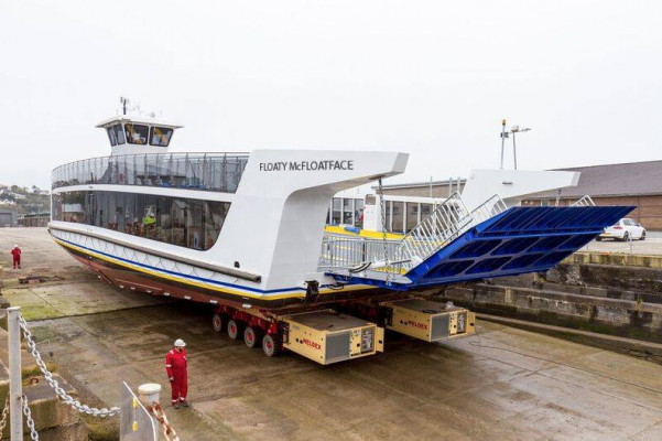Floaty Mcfloatface is being pushed as the new name for the floating bridge on the Isle of Wight