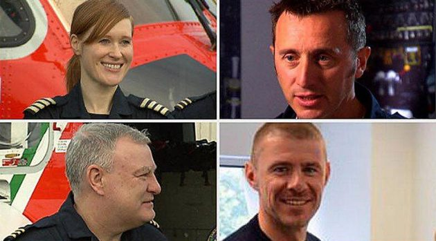 Irish Coast Guard helicopter crew on Rescue 116 which crashed off Mayo