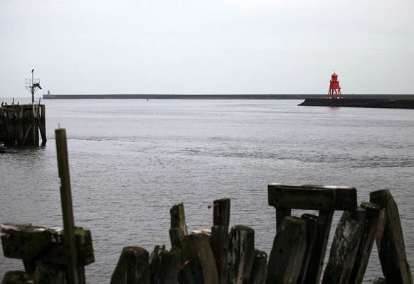 Tyne Harbour where a man was saved after drifting in his dinghy