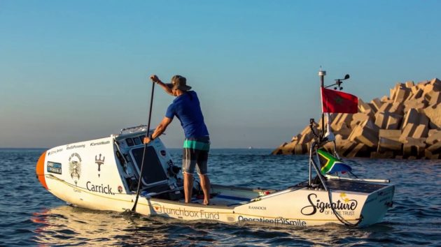 SUP Chris Bertish who has become the first person to paddleboard across the Atlantic