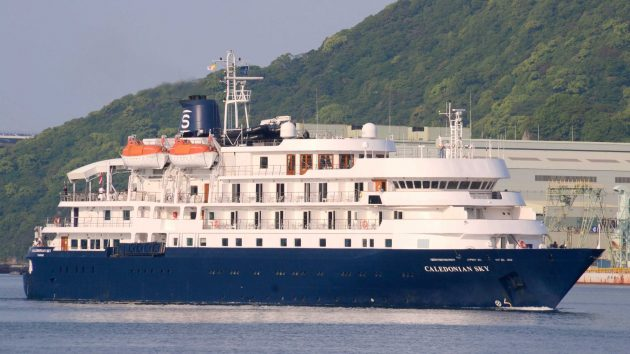 Cruise ship Caledonia Sky which caused damage to a coral reef in Indonesia