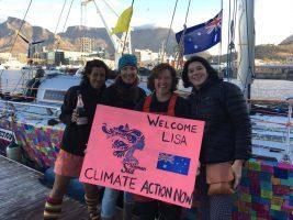 Lisa Blair arrives in Cape Town