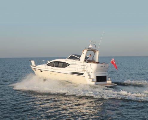 A white boat