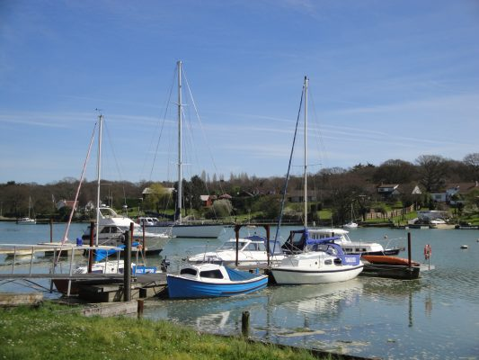 Wootton Creek on the Isle of Wight where a speedboat fouled its propeller on a live electric cable