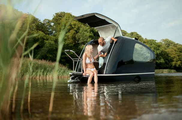 An ingenious way to camp...on the water...Sealander