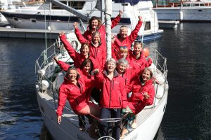 Tracy Edwards and the Whitbread Round the World Race crew aboard Maiden