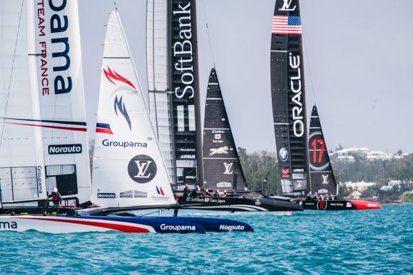 America's Cup boats practicing in Bermuda