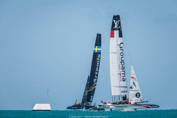 Two boats racing in Bermuda
