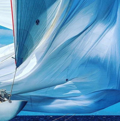 Sails are unfurled on a J class yacht