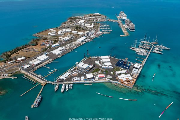 erial view of the America's Cup village in Bermuda