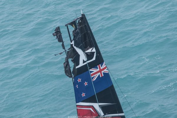 Damage to the Emirates Team New Zealand boat