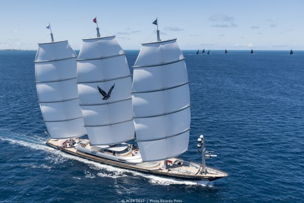 14/06/17: The Maltese Falcon racing during the America's Cup