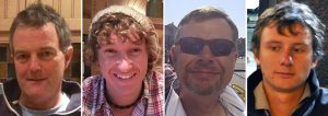 The four men who died when the Cheeki Rafiki capsized in the mid Atlantic in May 2014