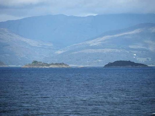 Two islands off Oban in Scotland