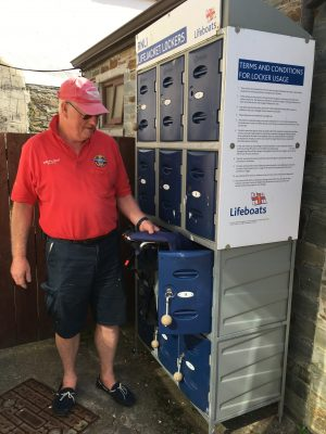 Lifejacket lockers provided by the RNLI to persuade people to wear lifejackets