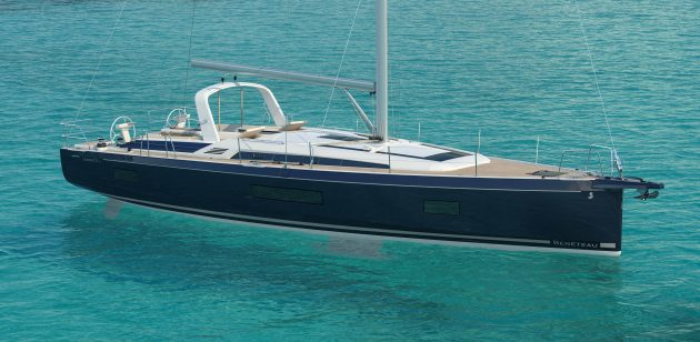 A drawing of the new Oceanis 51.1 from the French builder Beneteau