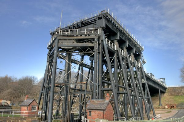 All in black, the Anderson Boat Lift in Cheshire