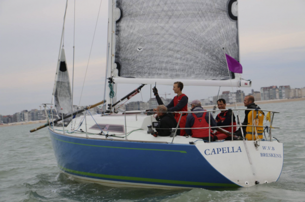 Frans Maas and his crew ahead of the start of the Light Vessel Race