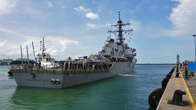 Sea search for missing USA  warship sailors suspended