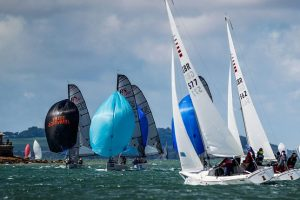 Yachts competing at Cowes