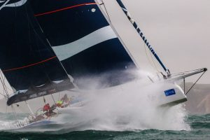 A maxi racer taking part in Cowes Week