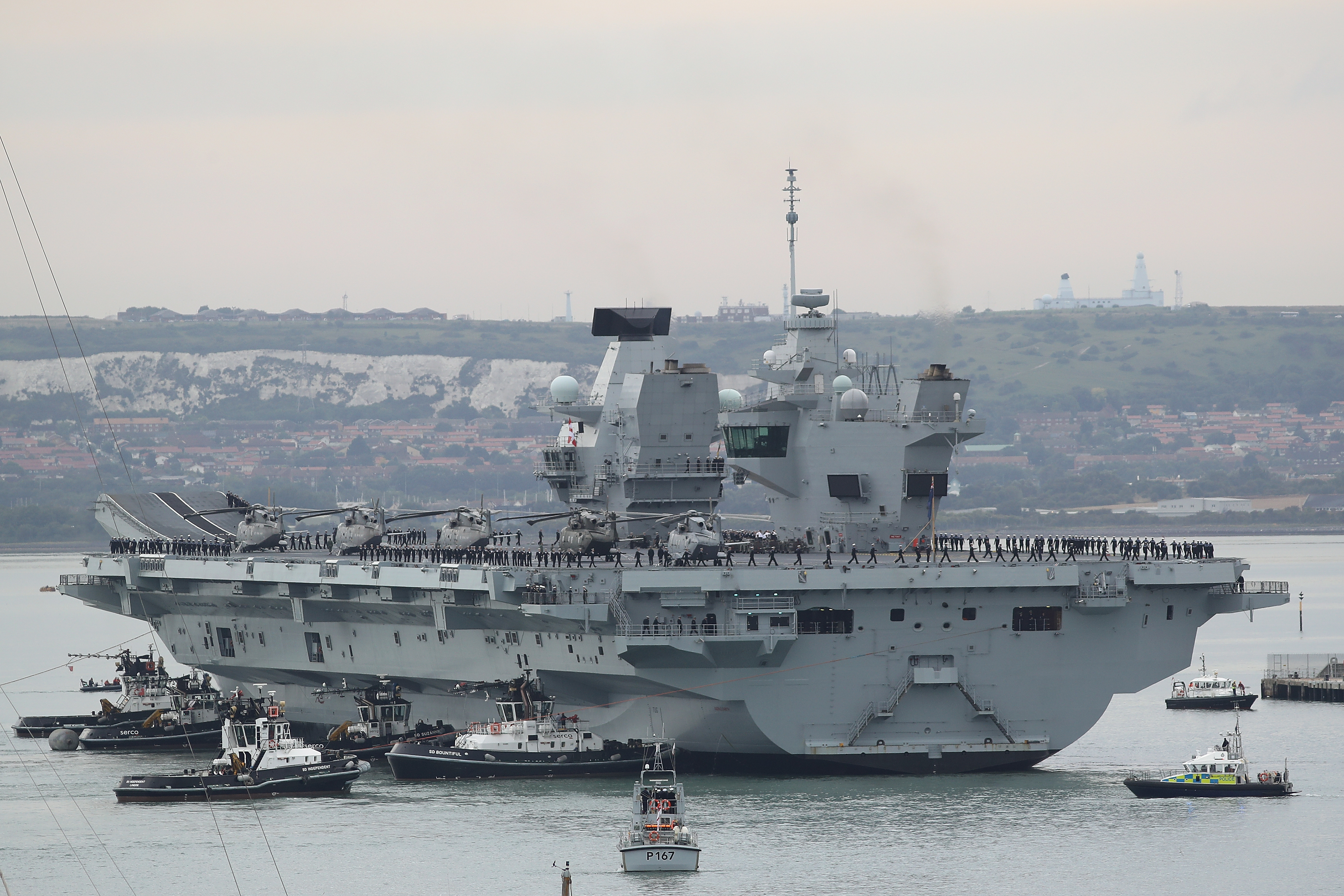 HMS Queen Elizabeth scheduled for repairs after leak found on aircraft carrier - YBW