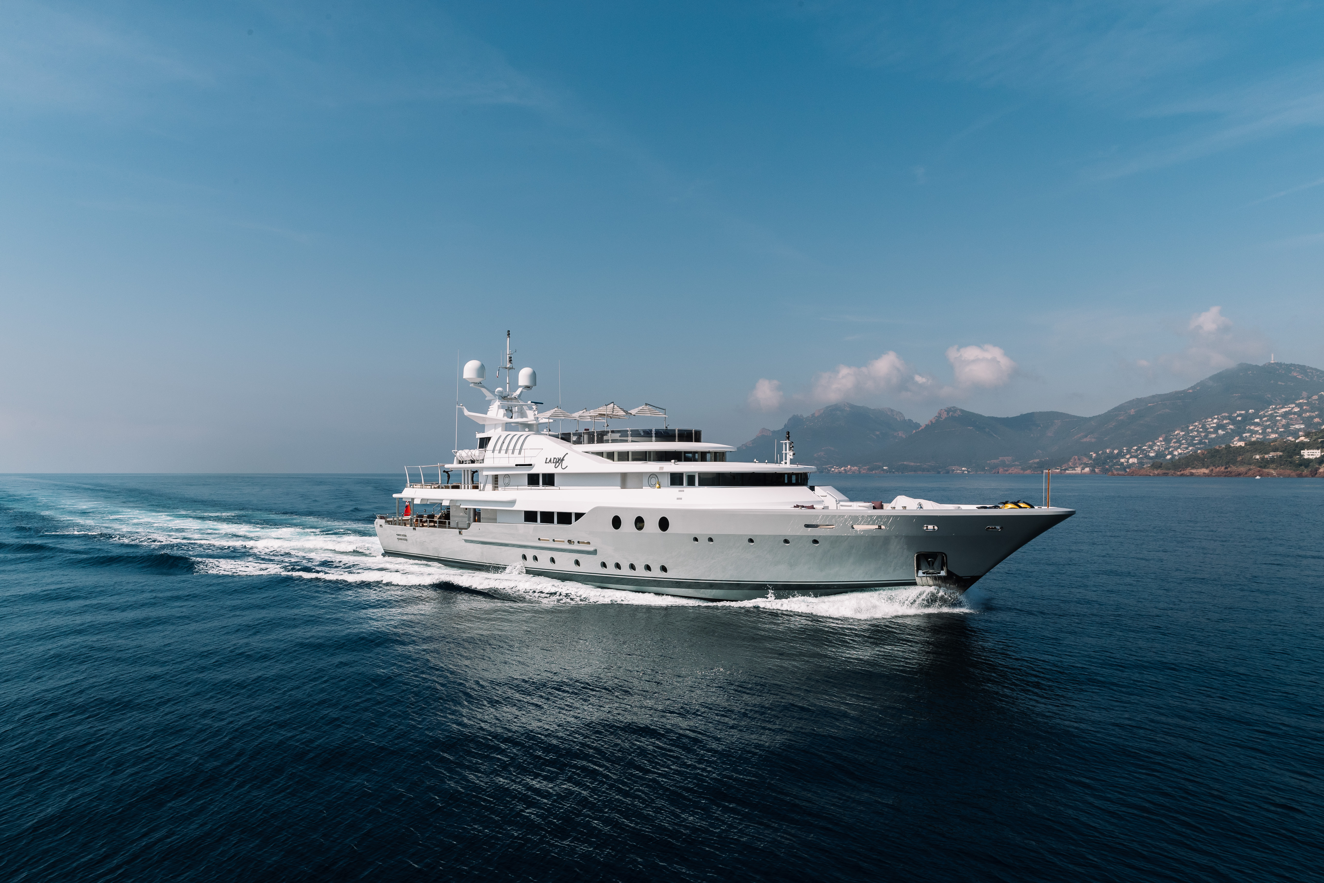 Lady A - the superyacht which belongs to Lord Alan Sugar