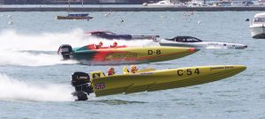 A powerboat race off Cowes