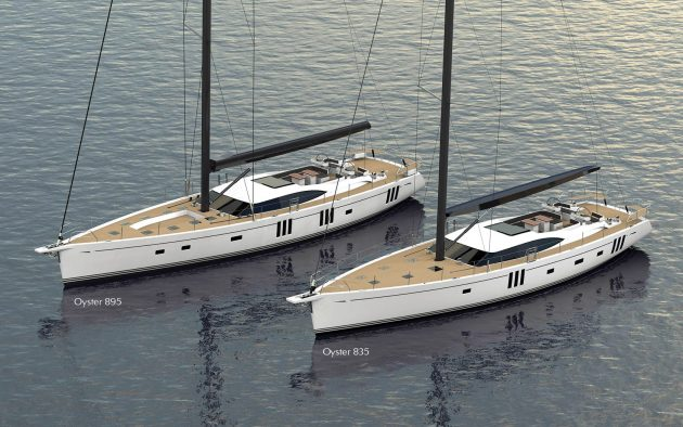 Renders of two new super yachts from Oyster Yachts