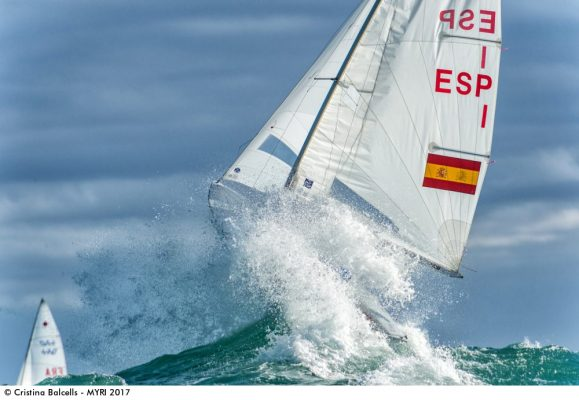 A 470 being thrown from the water makes the shortlisted for the Mirabaud Yacht Racing Image 017 award