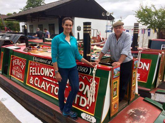 Mary-Ann Ocha on a narrow boat