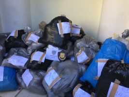 Black plastic bags of raw cannabis found on a sailing boat in the Aegean Sea