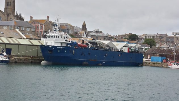 The Isle of Scilly freight ship the Mali Rose