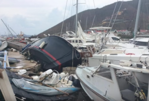Boats destroyed by Hurricane Irma