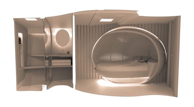 Renders of a yacht master cabin