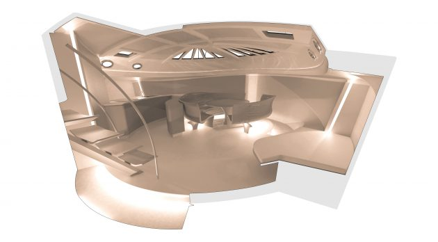 Renders of a yacht interiors