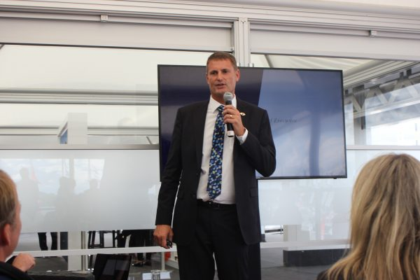 phil popham at sunseeker presentation