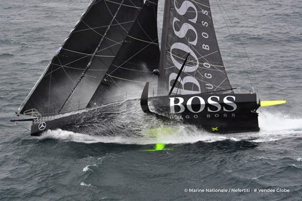 The Black and white HUGO BOSS, which was built by Green Marine