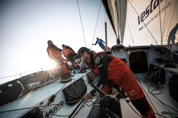 Crew on a Volvo Ocean Race boat