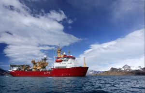 HMS Protector searching for submarine in Argentina