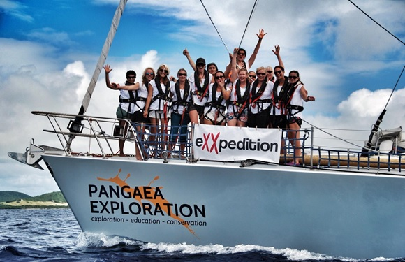 crew of the exxpedition yacht